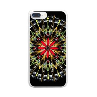 宵花火-点描曼荼羅 Clear smartphone cases