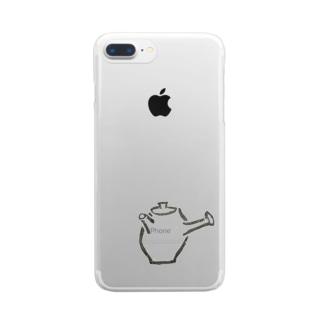 お茶の時間 Clear smartphone cases
