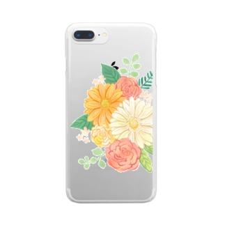 Gerbera & Rose Clear smartphone cases