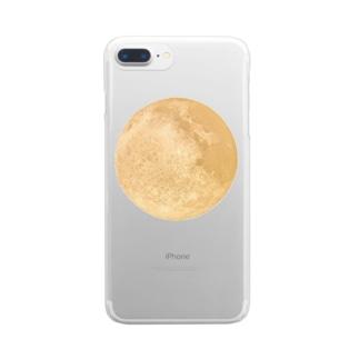 輝く満月 Clear smartphone cases
