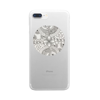 ゼンタングル Clear smartphone cases