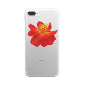 お花 Clear smartphone cases