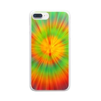 サイケデリック Clear smartphone cases