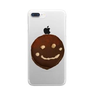 ザッハトルテの微笑み Clear smartphone cases
