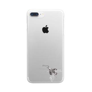ジッパーかぶとむし Clear smartphone cases