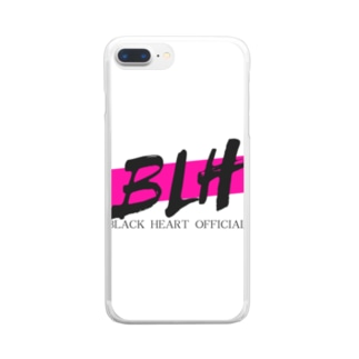 black  Heart Clear smartphone cases