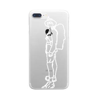 登山 Clear smartphone cases