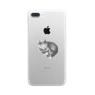 くつろぎミミ Clear smartphone cases