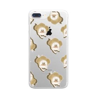 カレー脳頬杖そのに Clear smartphone cases