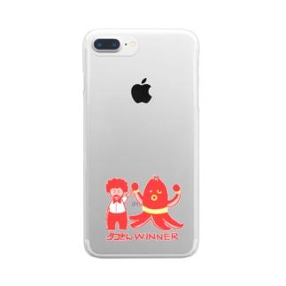 【ドラマ あのキス】タコさんWINNER【ご着用】 Clear Smartphone Case