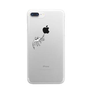ねこまたのオロチ Clear smartphone cases