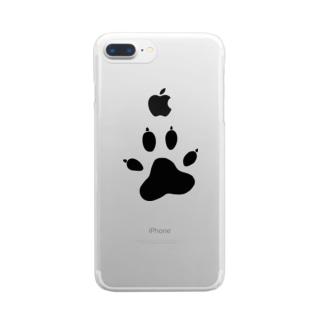 ワンワンアタック Clear smartphone cases