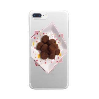 チョコレート Clear smartphone cases
