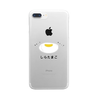 しらたまご Clear smartphone cases