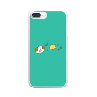 パブロフのわんちゃん Clear smartphone cases