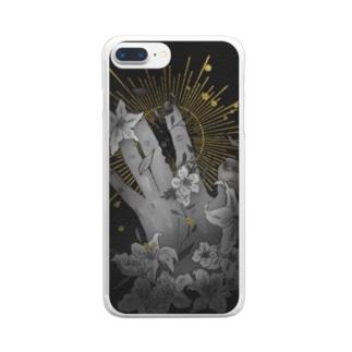 星に手を伸ばす Clear smartphone cases
