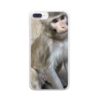 かわいいお猿さん2 Clear smartphone cases