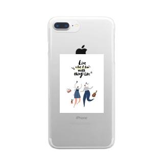 ゆるい人間 Clear smartphone cases