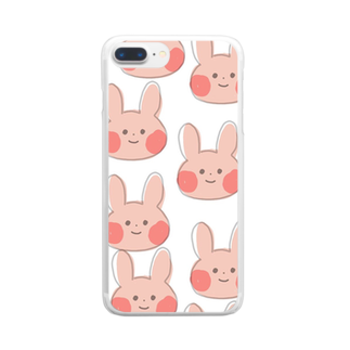 Sae_39921のうさぎがいっぱい Clear smartphone cases