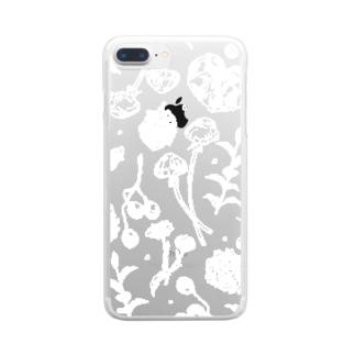 散歩道の宝物【白】 Clear smartphone cases
