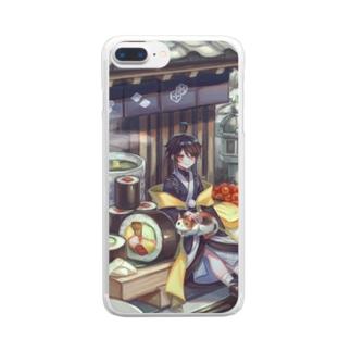 お寿司 Clear smartphone cases