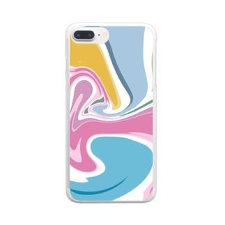 ぐるぐる Clear smartphone cases