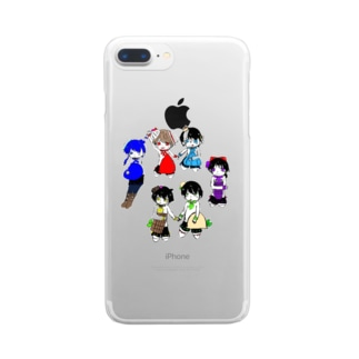 仲良し6にんぐみ Clear smartphone cases