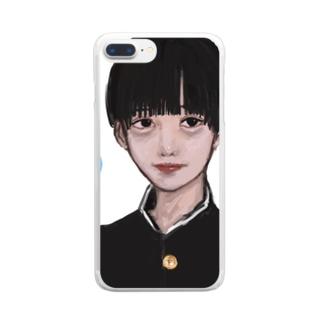 美少年くん Clear smartphone cases