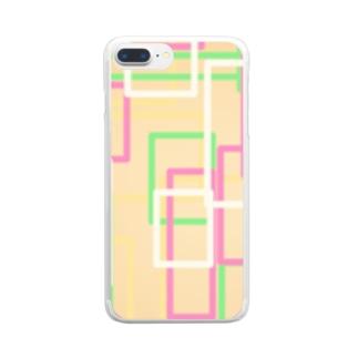 オレンジ四角隊 Clear smartphone cases