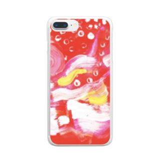 もえている Clear smartphone cases