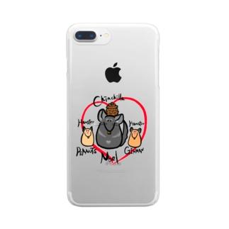 チンチラのノエルん Clear smartphone cases