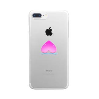 プリプリ桃 Clear smartphone cases