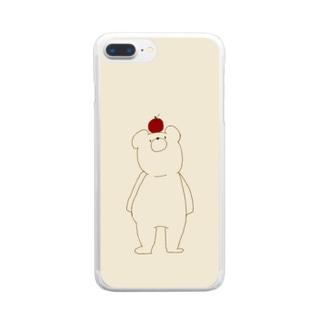 「くまさんとりんご。」 Clear smartphone cases