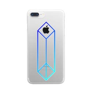 直方体:青 Clear smartphone cases