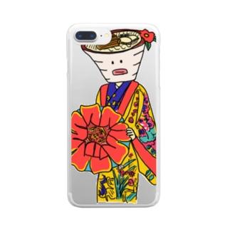 琉装そば太郎 Clear smartphone cases