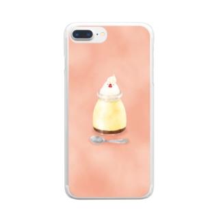とりホイッププリン Clear smartphone cases