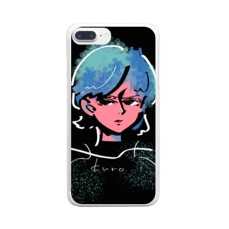 蒼ちゃん Clear smartphone cases