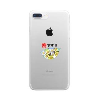 密です!セキセイインコさん【まめるりはことり】 Clear smartphone cases