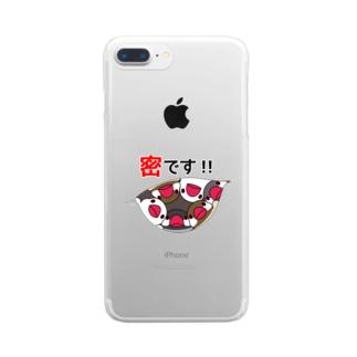 密です!文鳥さん【まめるりはことり】 Clear smartphone cases