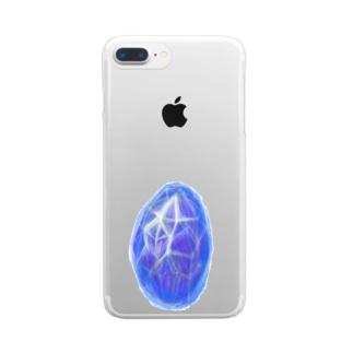 石言葉〜青い秘密 Clear smartphone cases