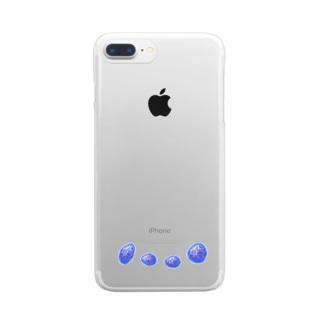 それぞれの青い秘密 Clear smartphone cases