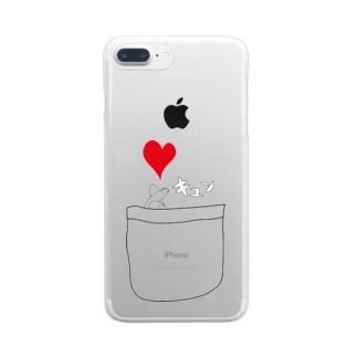 ポケットからキュン Clear smartphone cases