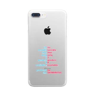 人工/人口ピラミッド(太字ver.) Clear smartphone cases