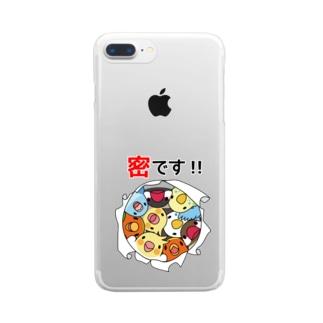 まめるりはことりの密です!鳥まみれ3密【まめるりはことり】 Clear smartphone cases