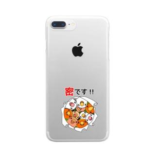 密です!コザクラインコさん【まめるりはことり】 Clear smartphone cases
