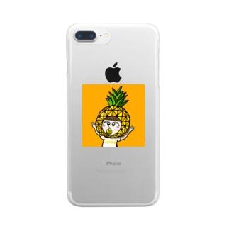 パイナポガール Clear smartphone cases
