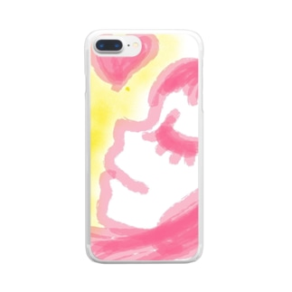 LOVE♡girl Clear smartphone cases