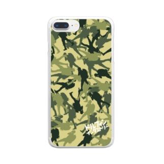 ドルフィンインダストリー&ストックヤード Official storeのカモフラ柄スマホケース Clear smartphone cases