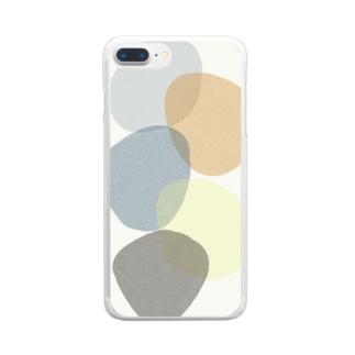 いびつまる02 Clear smartphone cases