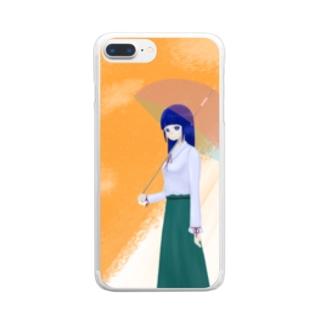 雨上がり Clear smartphone cases